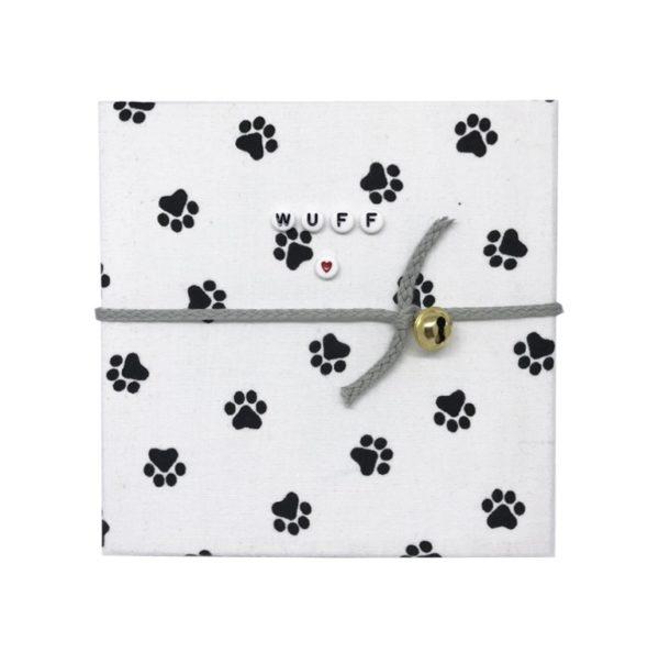 My Magic Footprint Pfoten Abdruck Set Hund und Katze personalisiert mit Buchstabenperlen selber machen